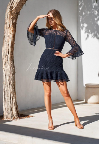 Two Sisters Navy Stacey Dress