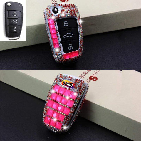 OEL DESIGN Audi Diamond Bling Car Key Case