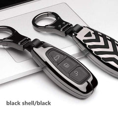 OEL DESIGN BLACK BLACK KEY COVER Ford Fiesta Focus Zinc Alloy Car Key Cover Case