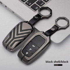 OEL DESIGN BLACK BLACK KEYRING ONLY Toyota Zinc alloy Car Remote Key Cover Case