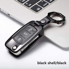 OEL DESIGN BLACK BLACK  KEYRING VW Golf Car Remote Key Cover Case