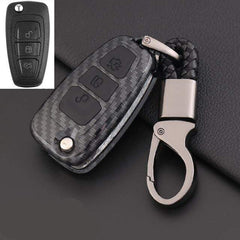 OEL DESIGN BLACK KEY COVER Ford Ranger Carbon Fiber Key Case Cover Key Protector