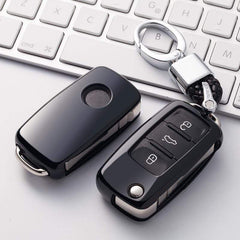OEL DESIGN BLACK  KEY COVER Volkswagen Car Key Case Shell