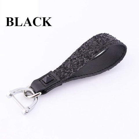 OEL DESIGN BLACK KEYCHAIN ONLY 2 Land Rover Diamond Crystal Shining Car Key Case Cover