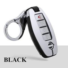 OEL DESIGN BLACK  KEYCHAIN ONLY Nissan Qashqai Car Smart Key protection Case