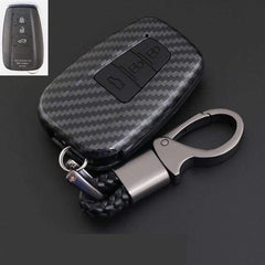 OEL DESIGN BLACK KEYRING Toyota Cover Remote Key Holder Fob Case & KeyChain