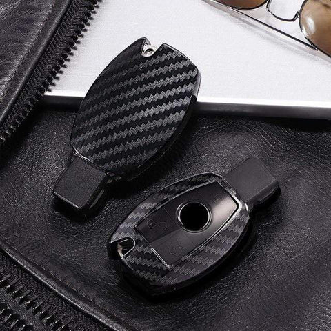 OEL DESIGN BLACK KEYSHELL Mercedes Benz PC Carbon Fiber Key Cover Key Shell Case