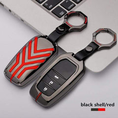 OEL DESIGN BLACK RED KEYRING ONLY Toyota Zinc alloy Car Remote Key Cover Case