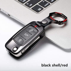 OEL DESIGN BLACK RED  KEYRING VW Golf Car Remote Key Cover Case