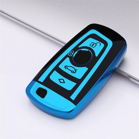 OEL DESIGN BLUE KEY COVER BMW Remote Key Case
