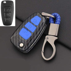OEL DESIGN BLUE KEY COVER Ford Ranger Carbon Fiber Key Case Cover Key Protector