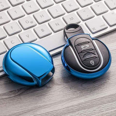 OEL DESIGN BLUE KEY COVER MINI COOPER Key Cover
