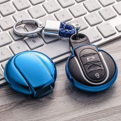 OEL DESIGN BLUE KEYCHAIN MINI COOPER Key Cover