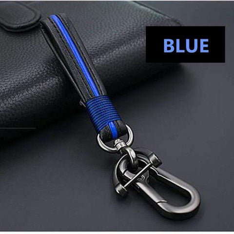 OEL DESIGN BLUE KEYCHAIN  ONLY Ford EcoSport Zinc Alloy Car Key Case Cover