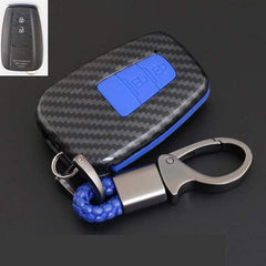 OEL DESIGN BLUE KEYRING 2 Toyota Cover Remote Key Holder Fob Case & KeyChain
