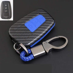OEL DESIGN BLUE KEYRING Toyota Cover Remote Key Holder Fob Case & KeyChain