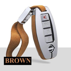 OEL DESIGN BROWN KEYCHAIN Nissan Qashqai Car Smart Key protection Case