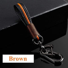 OEL DESIGN BROWN KEYCHAIN ONLY Audi Carbon Fiber Cover  & KeyChain