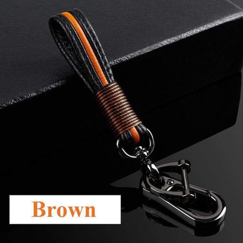 OEL DESIGN BROWN KEYCHAIN ONLY Ford Ranger Carbon Fiber Key Case Cover Key Protector