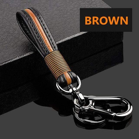 OEL DESIGN BROWN KEYCHAIN ONLY Mazda Car Remote Key Ring Case Metal Cover