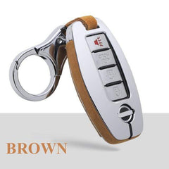 OEL DESIGN BROWN KEYCHAIN ONLY Nissan Qashqai Car Smart Key protection Case