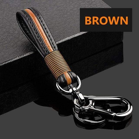 OEL DESIGN BROWN  KEYCHAIN ONLY Toyota Zinc alloy Car Remote Key Cover Case