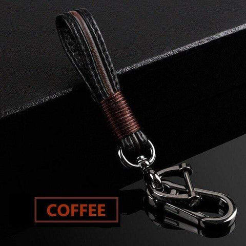 OEL DESIGN COFFEE KEYCHAIN ONLY / Red Audi Carbon Fiber Matte Car Key Cover