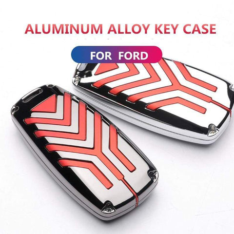 OEL DESIGN Ford EcoSport Zinc Alloy Car Key Case Cover