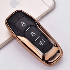 OEL DESIGN GOLD KEY COVER Ford Car Remote Key Cover