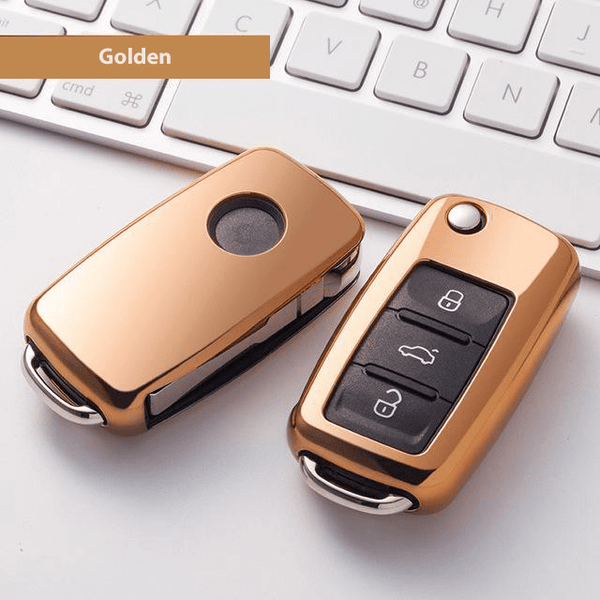 OEL DESIGN GOLD  KEY COVER Volkswagen Car Key Case Shell