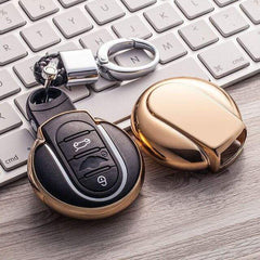 OEL DESIGN GOLD KEYCHAIN MINI COOPER Key Cover