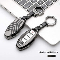 OEL DESIGN GUN BLACK KEYRING Nissan Qashqai Zinc alloy Car Remote Key Cover Case
