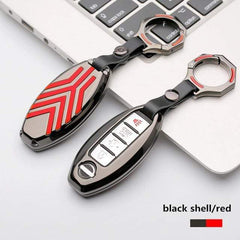 OEL DESIGN GUN RED KEYRING Nissan Qashqai Zinc alloy Car Remote Key Cover Case