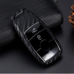 OEL DESIGN KEY SHELL Mercedes Benz Carbon Fiber Pattern Silicone Cover Case