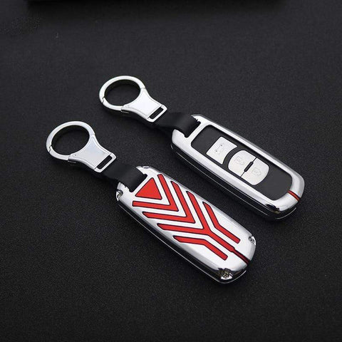 OEL DESIGN Mazda Car Remote Key Ring Case Metal Cover