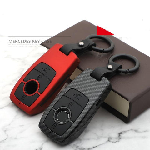 OEL DESIGN Mercedes Benz Carbon Fiber Matte Car Key Case