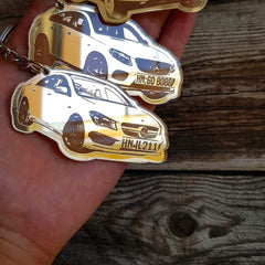 OEL DESIGN Personalized Keychain for Your Car Model, based on your photo.