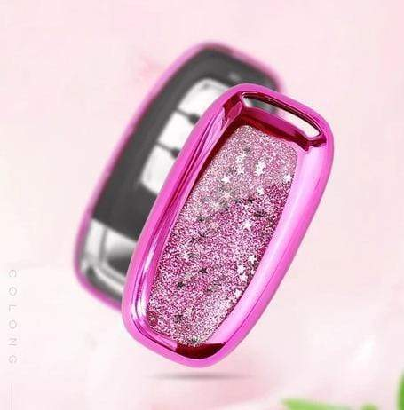 OEL DESIGN PINK KEY COVER Audi Sparkling Quicksand Car Key Cover