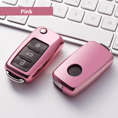 OEL DESIGN PINK  KEY COVER Volkswagen Car Key Case Shell