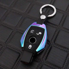 OEL DESIGN RAINBOW KEY COVER WITH RING Mercedes Benz Zinc Alloy Silica Gel Key Case Cover