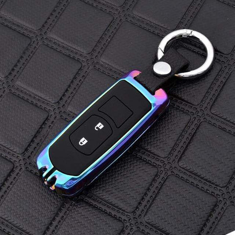 OEL DESIGN RAINBOW KEYRING Mazda Zinc Alloy Silica Gel Car Remote Key Case Cover