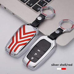 OEL DESIGN RED BLACK KEYRING ONLY Toyota Zinc alloy Car Remote Key Cover Case
