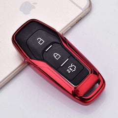 OEL DESIGN RED KEY COVER Ford Car Remote Key Cover