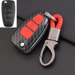 OEL DESIGN RED KEY COVER Ford Ranger Carbon Fiber Key Case Cover Key Protector