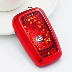 OEL DESIGN RED  KEY COVER Toyota Land Cruiser Car Remote Key Case Fob Holder
