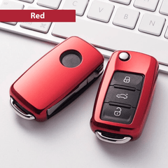 OEL DESIGN RED KEY COVER Volkswagen Car Key Case Shell