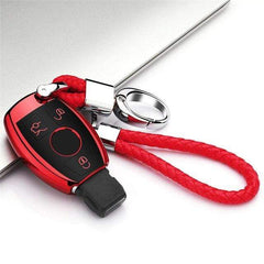 OEL DESIGN RED  KEY COVER WITH CHAIN Mercedes New Hot Soft Car key Case