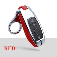 OEL DESIGN RED  KEY COVER WITH KEYRING2 Mercedes-Benz Smart Key Cover Case