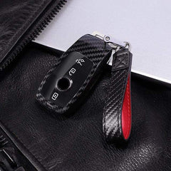 OEL DESIGN RED KEYCHAIN Mercedes Benz PC Carbon Fiber Full Protective Cover key Shell Case