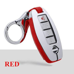OEL DESIGN RED KEYCHAIN ONLY Nissan Qashqai Car Smart Key protection Case
